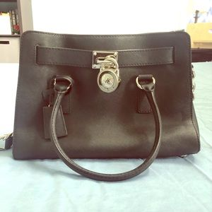 MK Hamilton Leather Satchel